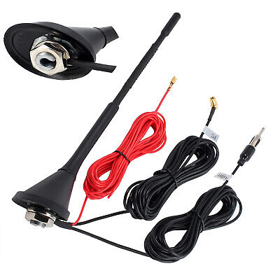 Universal Roof Mount Active Amplified DAB With FM Car Radio Aerial Antenna Mast. • 17.99£