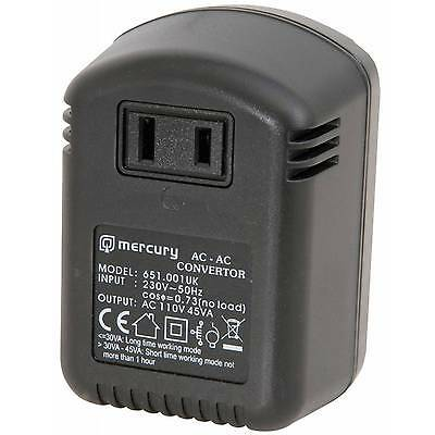 Mercury 45W 230V To 110V UK To USA Step Down Voltage Converter • 9.99£