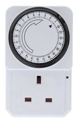 £8.49 • Buy 24 Hour Electrical Plug-in Timer Switch Lock Socket 24hr Timer 3 Pin Adapter