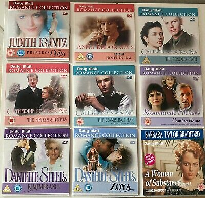 9 Daily Mail Promo DVDs Romance Collection Inc Catherine Cookson,Danielle Steel • 8.99£