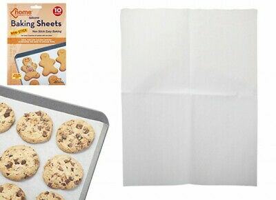 10 X Kitchen Silicone Baking Sheets Work Mat Oven Tray Liner Pastry Pizza  • 3.49£
