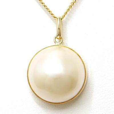 $299 • Buy Jewelry 18K Yellow Gold Necklace Mabe Pearl About5g Free Shipping Used