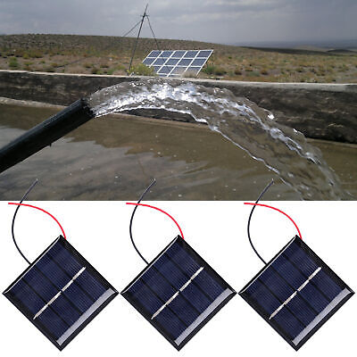AU13.88 • Buy 3Pcs Durable 0.45W 2V Mini DIY Cells Micro Wired Polysilicon Outdoor Solar Panel