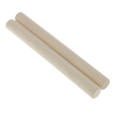 1 Pair Of Beat Musical Instruments Wooden Rhythm Sticks Kids Play Toys • 3.81£