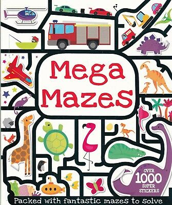 Mega Mazes Activity Book For Children With 1000 Stickers And Press-outs 48 Pages • 4.99£