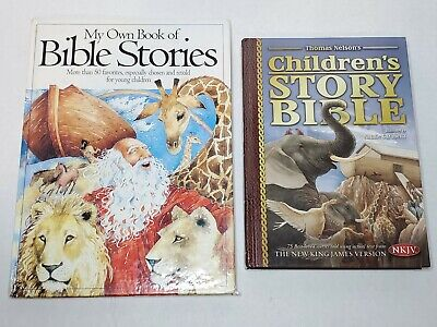£7.06 • Buy Childrens Bible Story Book Lot X2 Hardcovers