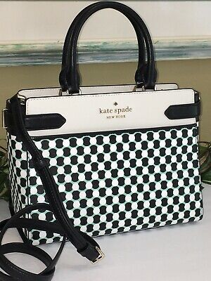 $ CDN164.53 • Buy Kate Spade Staci N Bny Spots Dots Medium Satchel Shoulder Tote Bag Leather