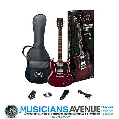 AU395 • Buy SX SG Electric Guitar And Amp Pack (GTSE4SKTWR) + Free Online Lessons