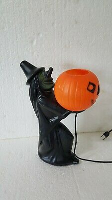 $ CDN374.94 • Buy Rare Vintage Halloween Blow Mold Witch Holding Pumpkin