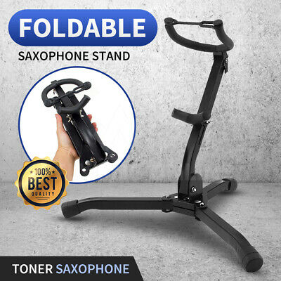 AU26.98 • Buy Saxophone Stand Tripod Folding Holder For Alto Tenor Sax Portable Metal