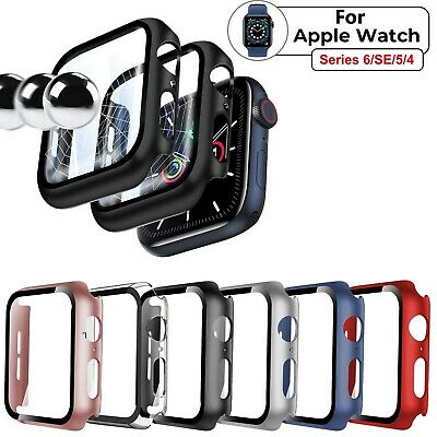 $ CDN3.69 • Buy For Apple Watch Series 6/SE/5/4 40mm/44mm Hard Case Full Screen Protector Cover