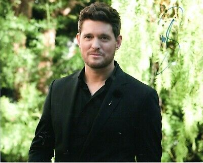 £50 • Buy Michael Buble Hand Signed 10x8 Col Photo Card Autographed W/COA