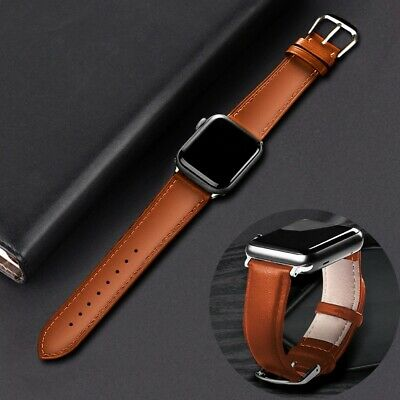 AU10.68 • Buy Apple Watch Band Genuine Leather Strap 🔥 Series 6 5 4 3 2 1 38/40mm, 42/44mm 🔥