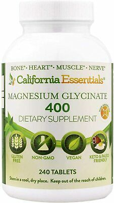 £12.72 • Buy Magnesium Glycinate 400 - Chelated, High Absorption Vitamin (240 Tablets)