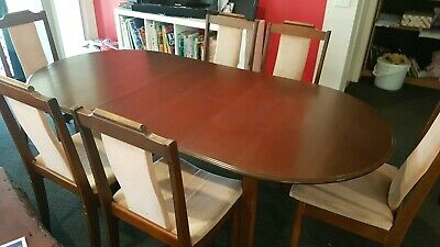 AU249 • Buy Classic Extension Dining Table & 6 Chairs.