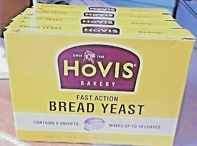 Hovis Fast Action Bread  Yeast 4 Boxes X 6 Sachets • 10£