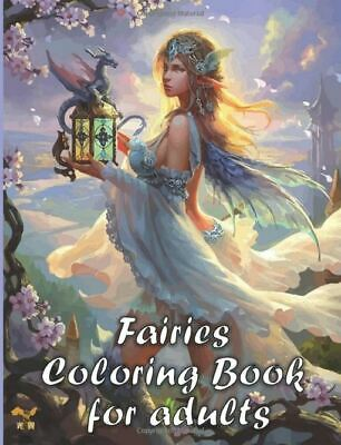 Fantasy And Fairies Adult Colouring Book Dragons Mermaids Magical Animals  • 7.99£