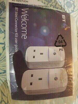BT Mini Connector Kit (087372) Powerline Power Line Adaptors Adapters W/ Cables • 18£