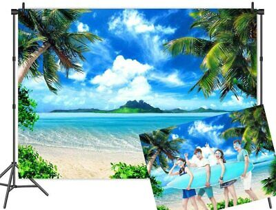 Tropical Beach Backdrop Party Luau Palm Tree Summer Photo Background Banner • 6.43£