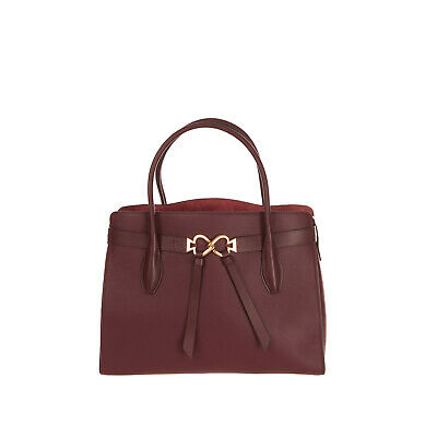 $ CDN69.29 • Buy RRP €340 KATE SPADE NEW YORK Leather Tote Bag HANDCRAFTED Grainy Logo Clasp