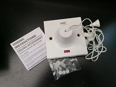 LAP 45A 1 Way Pull Cord Switch Bathroom Safety Switch  • 6£