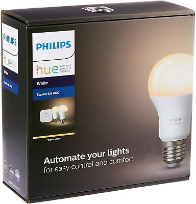 AU78 • Buy Philips Hue E27 Starter Kit A60 [2 X Hue White Bulbs + Bridge]
