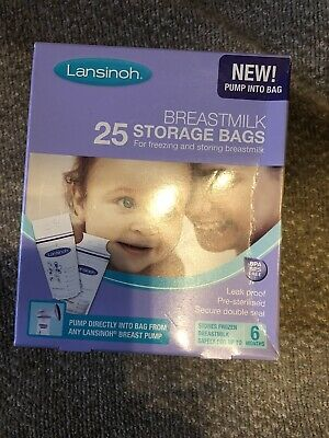 Lansinoh Breastmilk Storage Bags X25 For Storing And Freezing Breast Milk • 4.99£