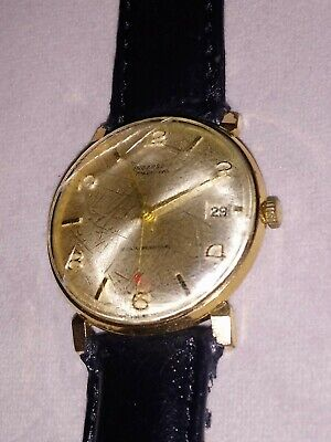 Spares Repairs Men's Vintage Ingersoll 17 Jewel Lever Gold Plated Wind Up Watch • 9.99£
