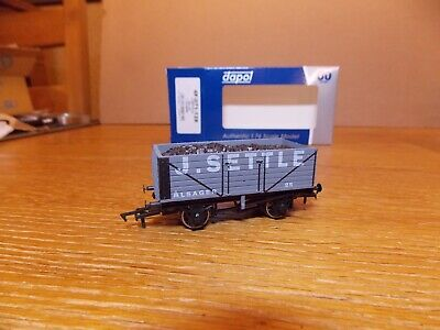 DAPOL. 7-PLANK OPEN COAL WAGON. No 25 J. SETTLE ALSAGER Livery. 00 Gauge. • 8£