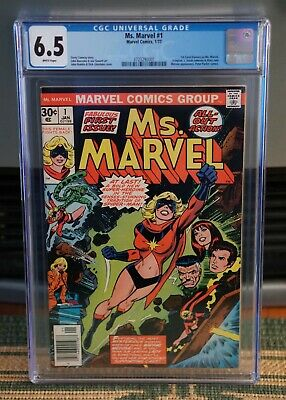 AU175 • Buy MS. MARVEL #1 CGC 6.5 Graded First Issue-comic Book Bronze Age Marvel  1977