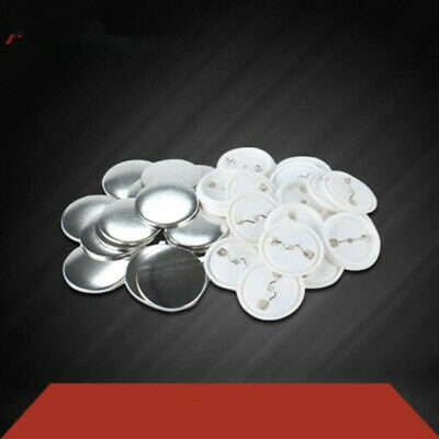 £10.98 • Buy 100pcs Round Button Badge Plain Metal Plate Pin Maker Parts Components 32MM 58MM