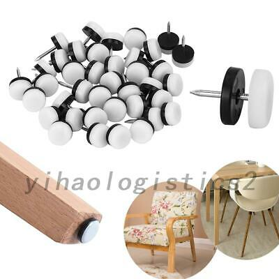 AU10.99 • Buy 40x 18/20/22mm Furniture Glides Sliders Chair Leg Floor Protector Table Nail