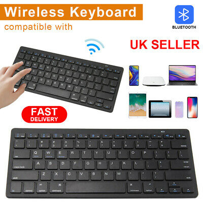 New Slim Wireless Bluetooth Keyboard For IMac IPad Android Phone Tablet  PC UK • 6.99£