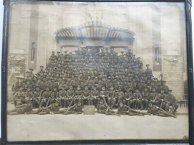 Original British WW1 Photograph Of C Company 1st Bn Kings Regiment • 12.50£