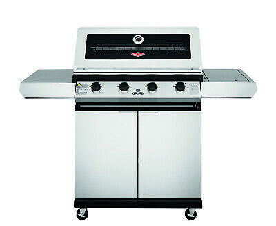 AU1229 • Buy New BeefEater Discovery 1200 Series 4 Burner Stainless Steel, Trolley BBQ With S