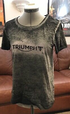 Triumph Women's Motorcycle Clothing Vintage Logo Tee-Shirt MTSA16042 • 21.43£