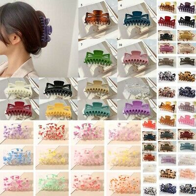 AU3.19 • Buy Bowknot Vintage Hair Clips Claw Crab Large Geometric Barrettes Hair Accessories