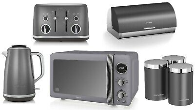 Breville Kettle And Toaster Swan Digital Microwave Morphy Richards Storage GREY • 299.99£