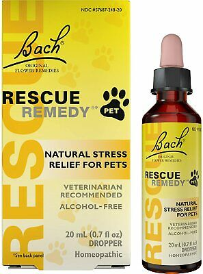 Rescue Remedy Natural Homeopathic Stress Relief Drops For Pets, 20 Ml  • 21.24£