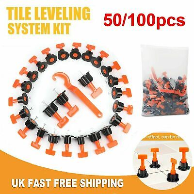 100ps Tile Leveling System Kits Leveler Tile Spacer Wall Floor Tool Construction • 11.99£
