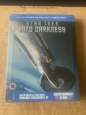 AU53.98 • Buy Star Trek Into Darkness 3D & 2D Blu Ray Steelbook NEW & SEALED Rare Only 4000