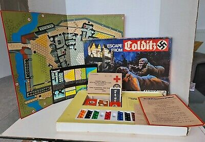 Escape From Colditz Strategy WW2 Board Game, By Parker 1970's  • 19.99£