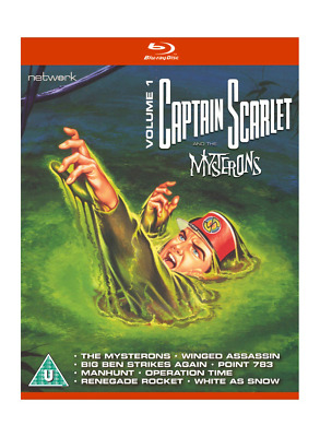 Captain Scarlet And The Mysterons Volume 1 Blu-ray - New & Sealed • 9.99£