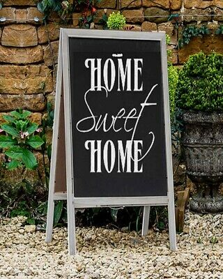 £19.99 • Buy Wooden Chalkboard Easel Sign A Frame Wedding Party Events Grey