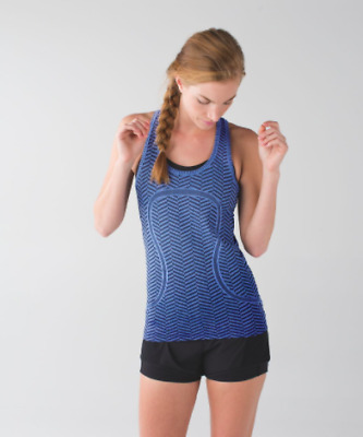 $ CDN40 • Buy Lululemon Run Swiftly Tech Racerback Heathered Harbor Blue Size 6