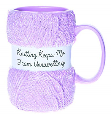£13.89 • Buy Boxer Gifts Keeps Me From Unraveling Novelty Knitting Mug | Realistic Matte Yarn