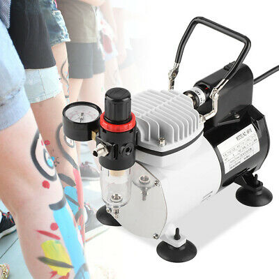 £57.06 • Buy Silent Airbrush Compressor Double Action Air Brush Spray Kit Paint Nail Tattoo
