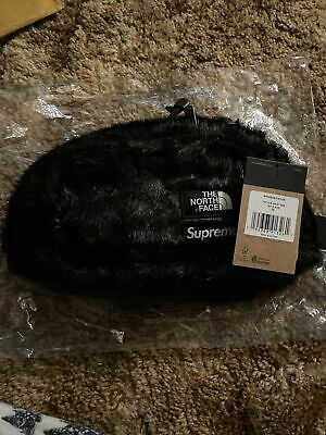 $ CDN140.35 • Buy Supreme North Face Faux Fur Waist Bag Black Brand New!
