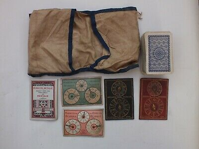 Lot Of De La Rue And Goodall Bezique Markers, Goodalls Rules And Waddinton Cards • 0.99£