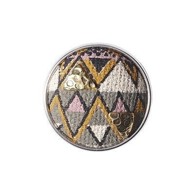 AU11.66 • Buy Noosa Amsterdam Chunk Zulu CRN-252-01 Stainless Steel Push Buttons Brass Textile